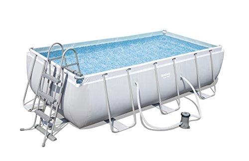 Bestway Power Steel Rectangular Frame Pool Set (404x201x100 cm), Stahlrahmenpool...