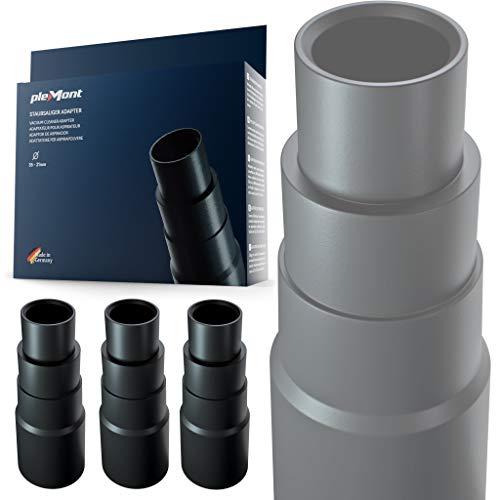 Plemont Staubsauger Adapter [3er Set] für gängige Werkstattsauger. universal...