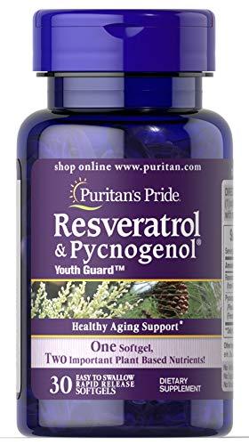 Resveratrol & Pycnogenol Puritans Pride - 30 Softgels
