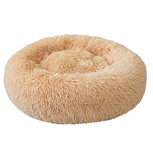 MoreLucky Haustierbett für Hunde und Katzen, waschbar, bequem, Plüsch, für...