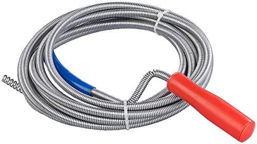 AGT Abflussspirale: Rohrreinigungs-Spirale für Waschbecken, Dusch- & Badewanne,...