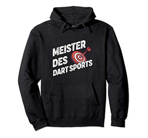 Meister Des Dart Sports mit Dartscheibe und Dartpfeil Pullover Hoodie