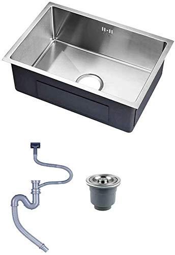 Kitchen Sink Kompakte Edelstahl Einzelnes Waschbecken mit Drained Ausgussbecken...