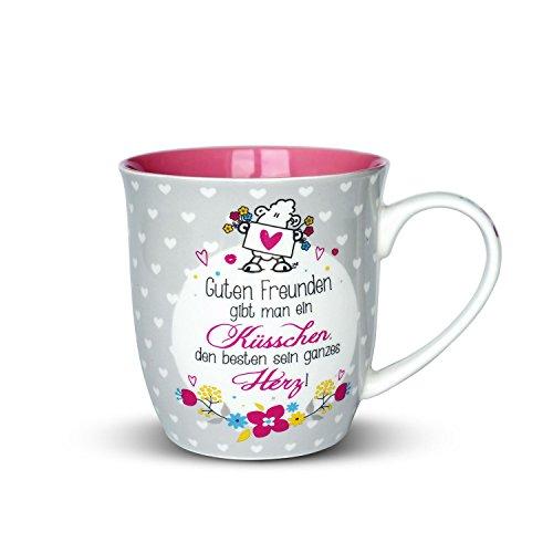 """Sheepworld 44399 Tasse mit Spruch """"Guten Freunden gibt man ein Küsschen"""",..."""