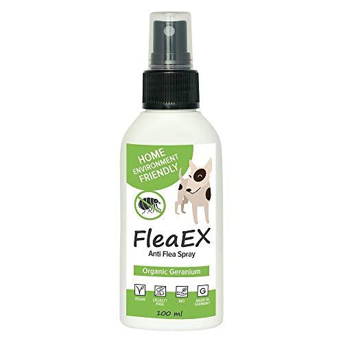 Flohspray für Hunde FleaEX | 100ml BIO Flohmittel Hunde zum Sprühen |...