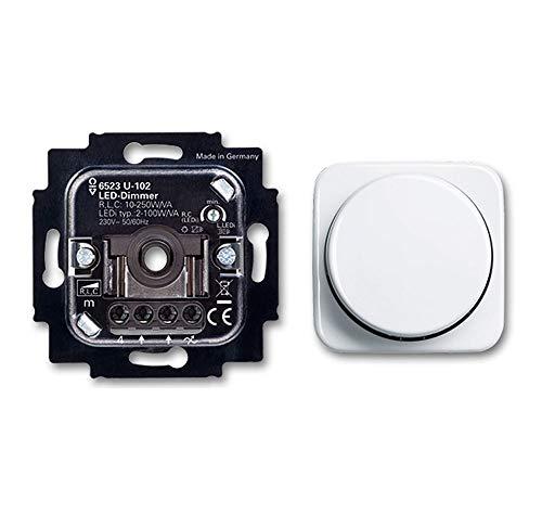 BUSCH-JÄGER, LED-Drehdimmer (LED Dimmer) 6523 U-102 (6523U 102) 6523U102 mit...