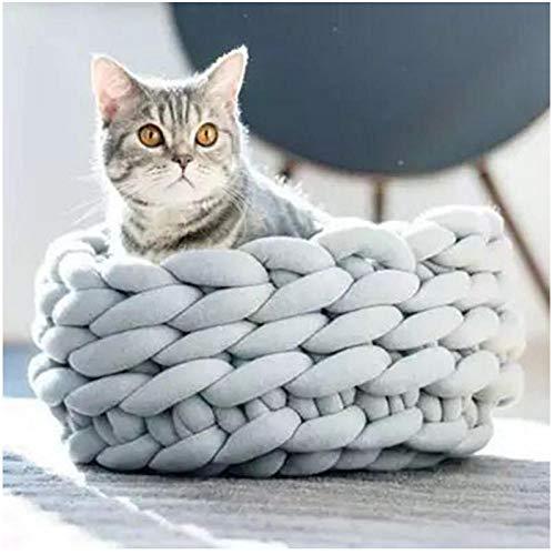 N/A Handgewebtes Katzennest Haustiernest Waschbare Hundedecke Katzenbett Plüsch...