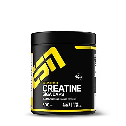 ESN Creatine Giga Caps, hochwertiges ultrafeines Creatine Monohydrat, vegan, 300...