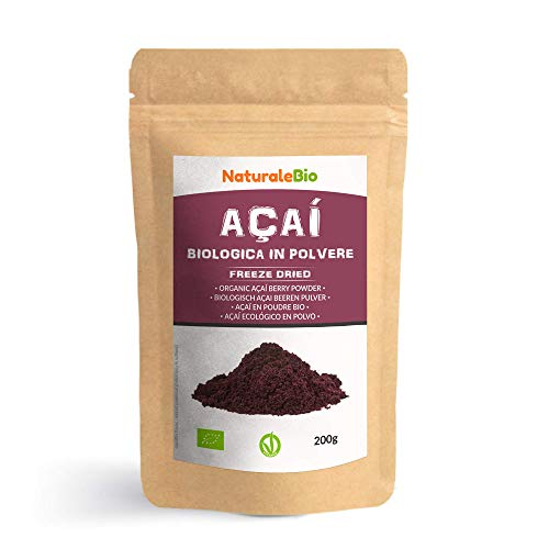 Açaí Beeren Pulver Bio [ Gefriergetrocknet ] 200g. Pure Organic Acai Berry...