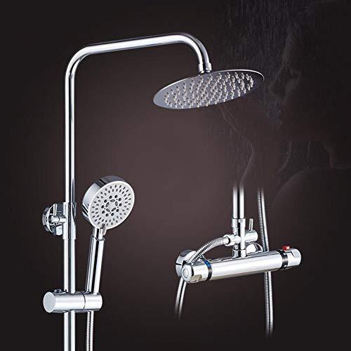 WMBATH Thermostat Duschsystem Regendusche Runde Duschpaneel Duscharmatur...