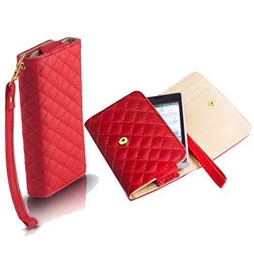 Handyschale24 Wallet Case für Timmy M9 Handytasche Rot Schutzhülle Tasche Slim...