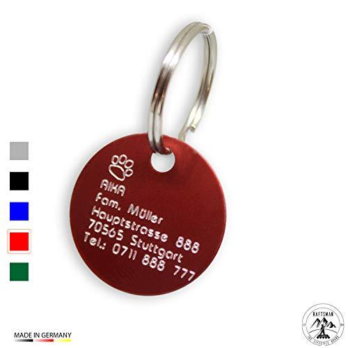 Hundemarke mit Gravur - ID Tag - Adressanhänger - Adressschild - Individuelle -...