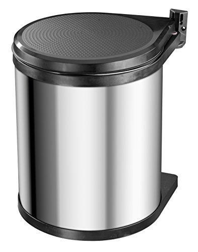 Hailo Compact-Box M, Einbau-Mülleimer aus Edelstahl/Kunststoff, 15 Liter,...