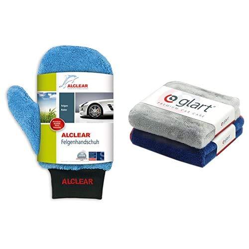 ALCLEAR 950013b Microfaser Auto Alu Felgen Reiniger-Handschuh für Autopflege...