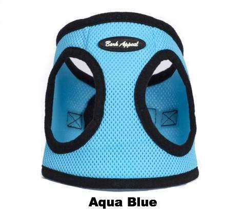 Bark Appeal Mesh Schritt in Hundegeschirr, Größe L, Aqua blau