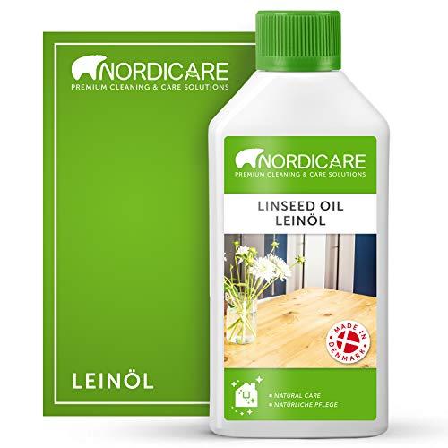 Nordicare Leinöl [500ml] für Holz zum Holzschutz I Leinöl Firnis Holzöl für...