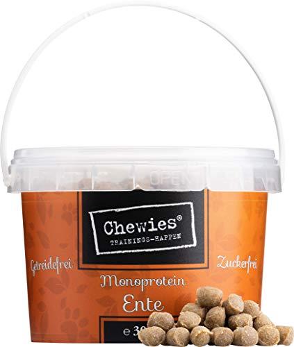 Chewies Trainingshappen Ente - Monoprotein Snack für Hunde - 300 g -...