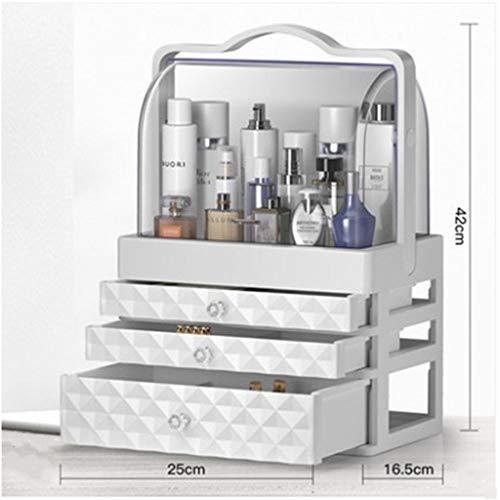 xiaohuozi Transparent staubdicht Makeup Organizer Dreischichtige Schublade...