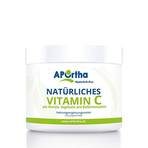 APOrtha natürliches Vitamin C hochdosiert I 250 g Vitamin C Pulver vegan aus...