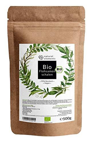 Bio Flohsamenschalen - Premium Qualität: Laborgeprüft, 99+% Reinheit,...