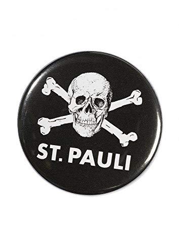 FC St. Pauli Button - Totenkopf - rund Anstecker, Pin - Plus Aufkleber Fans...