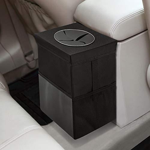 Auto-Mülleimer mit Deckel - Auto-Müllsack mit Aufbewahrungstaschen...
