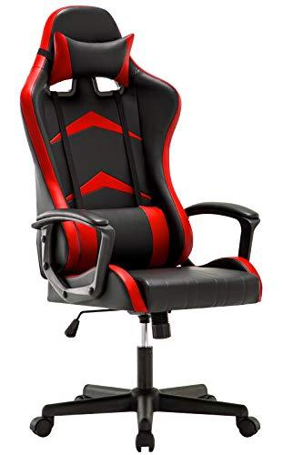 IntimaTe WM Heart Gaming Stuhl, Bürostuhl mit Verstellbarem Kopfkissen und...