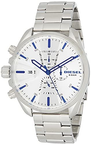 Diesel DZ4473 MS9 Chronograph Uhr Herrenuhr Edelstahl 5 Bar Analog Chrono Datum,...