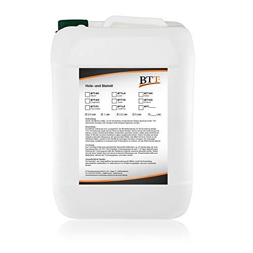 BTT-SO Natur Steinöl (2,5 Liter) zum Witterungsschutz, Versiegelung und...