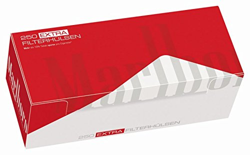 1000 Marlboro Red EXTRA (4 x 250er Hülsen) Filterhülsen,Zigarettenhülsen