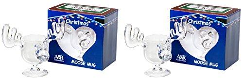 Weihnachtliche Eierli-Elch-Tassen, in Geschenkbox, 2 Stück, sicherer als Glas