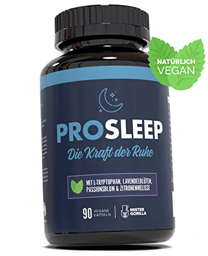 PRO SLEEP | Mit L-Tryptophan, Lavendelblüten, Passionsblume und Zitronenmelisse...