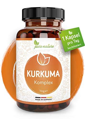 HOCHDOSIERTER Kurkuma Komplex I 1 Kps/Tag I 12.000mg Curcuma pro Kapsel I 90...