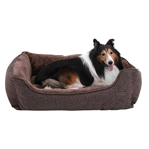 FEANDREA Waschbares Hundebett, Bezug abnehmbar und maschinenwaschbar,...