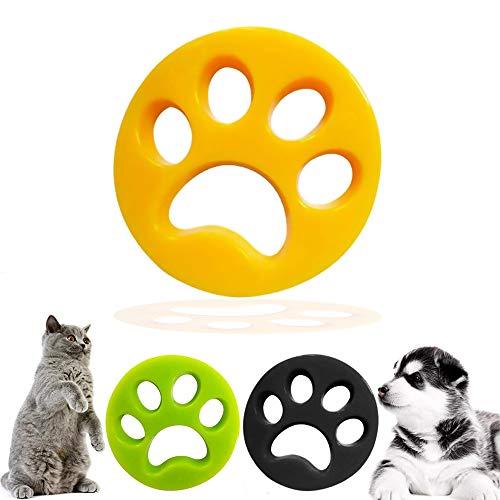 De.Zev 3 Stück Haustier Haarentferner, Tierhaarentferner Haustier für Wäsche,...