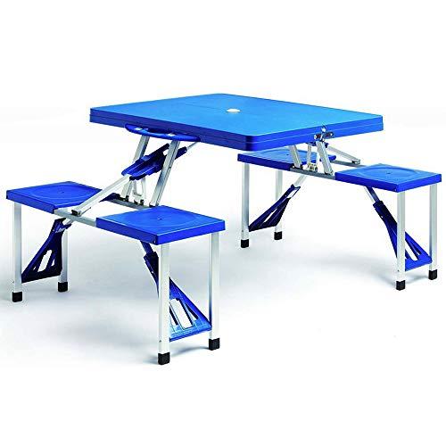 Deuba Alu Campingtisch Koffertisch Klappbar mit Stühlen Tragegriff...