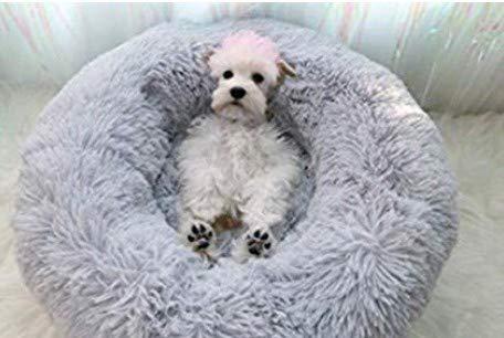 Everley Hutt Deluxe Haustierbett für Katzen Hundebett Luxery Soft Dog Donut Bed...