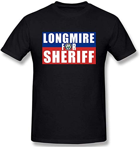 Men Longmire for Sheriff Cool T-Shirt Colornam with Creative Printed Short...