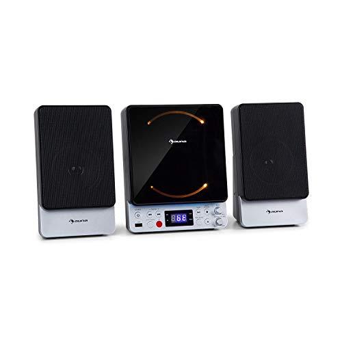 auna Microstar Sing - Microsystem Vertikalanlage Karaokesystem, CD-Player,...