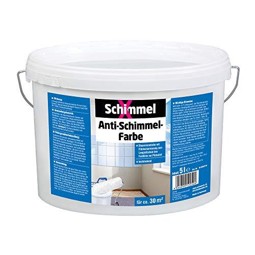 Pufas 5000 SchimmelX Anti-Schimmelfarbe Innen-Farbe mit Langzeitschutz weiß...