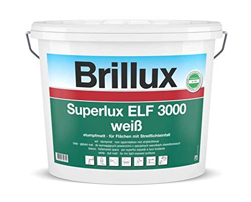 Brillux 10 L. Superlux ELF 3000 Weiß stumpfmatt, hochwertige, sehr gut deckende...