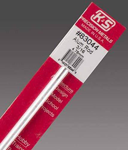 K&S Precision Metals 83044 Rundstab, Aluminium, 1,9 cm Außendurchmesser x 30,5...
