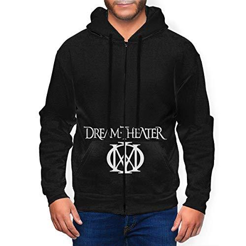 Dream Theater Logo Mens Hooded Zipper Shirt Long Sleeve Hooded Sweat Shirt...
