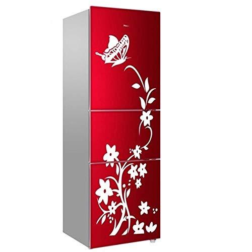 JJZSHKY Creative Kühlschrank, selbstklebend, Schwarz weiß
