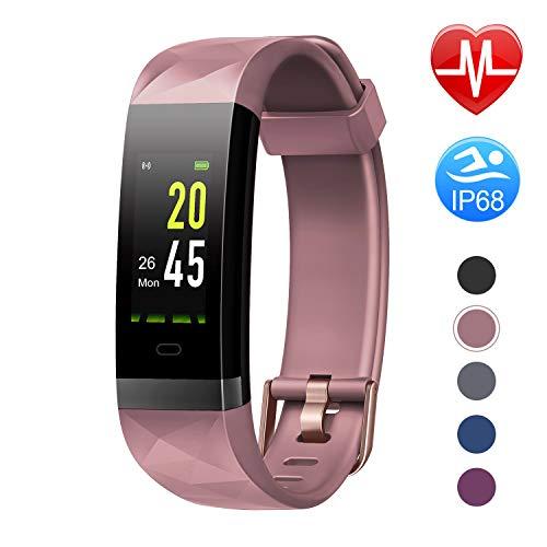 Letsfit Fitness Armband Farbbildschirm mit Pulsmesser, Fitness Tracker IP68...