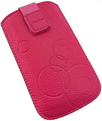 Handyschale24 Slim Case für Timmy M9 Handytasche Pink Rosa Schutzhülle Tasche...