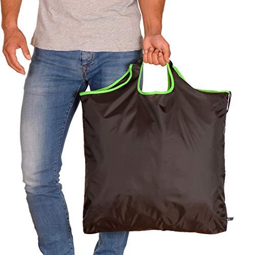 gripONE XXL Shopper Green - große, Faltbare Einkaufstasche aus hochwertiger...