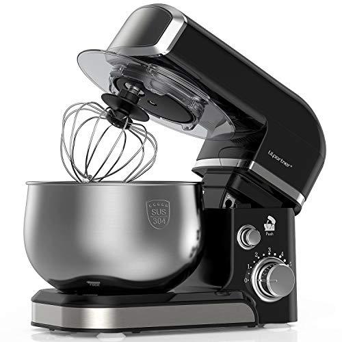 LILPARTNER Küchenmaschine Rührgerät, 1000W elektrischer Rührmaschine,...