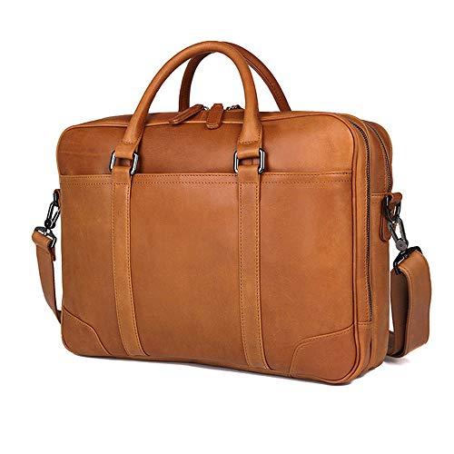 DLSMB Laptop-/Messenger-Tasche, Herren, Leder, Reisetasche, Wasserdicht,...