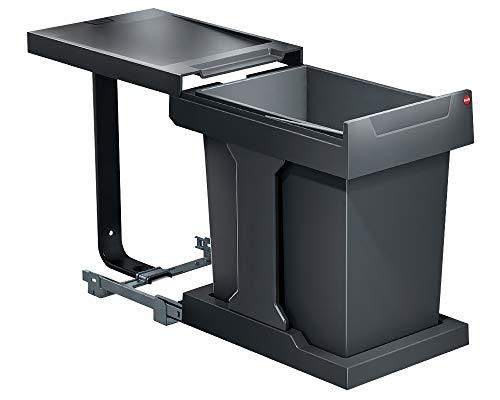 Hailo Abfallsammler 3635001 Solo 20 L für Schränke ab 30cm Breite, dunkelgrau